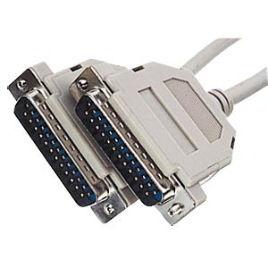 D-SUB cable, 1:1, 25-pin, ST/ST, 3m FREI