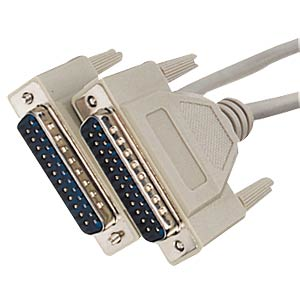 D-SUB cable, 1:1, 25-pin, ST/ST, 5m FREI