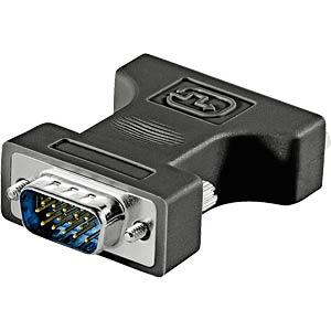 DVI-Adapter, DVI 24+5 Buchse auf 15pol. VGA-Stecker GOOBAY 68029