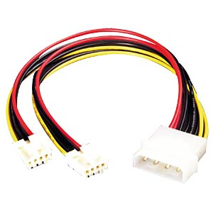 "Y power supply (Y cable) for FD, 2x 8.89cm, 3.5"" FREI"