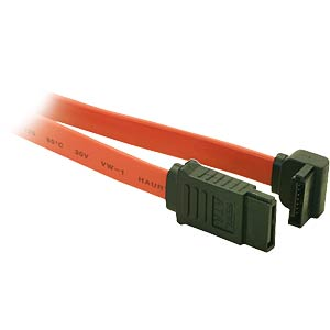 Serial ATA cable, 50 cm, angled FREI
