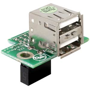 USB Pinheader Buchse auf 2x USB 2.0 Buchse, horiz. DELOCK 41761