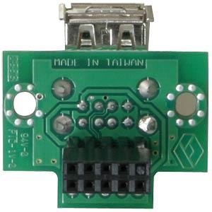 USB pin header socket>2x USB 2.0 socket, horiz. DELOCK 41761