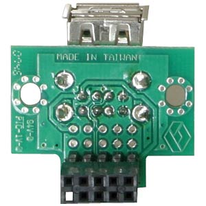 USB pin header socket>2x USB 2.0 socket, horizontal RD DELOCK 41762