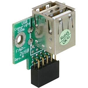 USB pin header socket > 2x USB 2.0 port - up DELOCK 41764