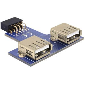 USB pin header socket> 2x USB 2.0 port - up DELOCK 41824
