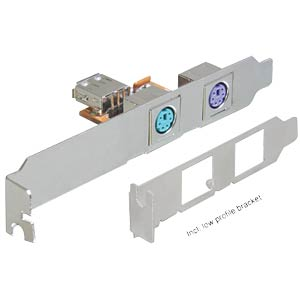 USB> 2x PS/2 slot cover including low-profile panel DELOCK 61589