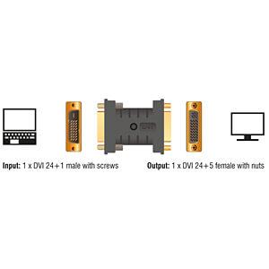 Delock Adapter DVI 24+1 Pin Stecker > Buchse EDID Emulator DELOCK 63313