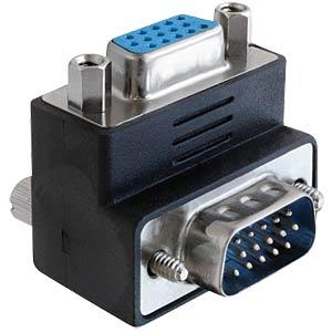 VGA Adapter, VGA Stecker auf VGA Buchse, 270° gewinkelt DELOCK 65247