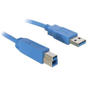 USB 3.0 Kabel, A Stecker auf B Stecker, 1 m DELOCK 82580