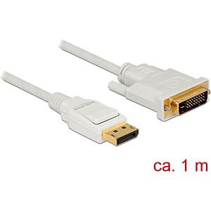 Delock Kabel DP 1.2 Stecker > DVI 24+1 Stecker, weiß, 1 m DELOCK 83813
