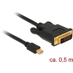 Delock Kabel miniDP 1.1 Stecker > DVI 24+1 Stecker, schwarz, 50 DELOCK 83987