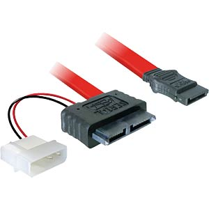 SATA Slimline Buchse + 2pin Power > SATA DELOCK 84390