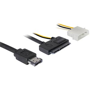 "Kabel eSATAp > SATA 22pin 2½"" - 3½"" HDD 1m DELOCK 84412"