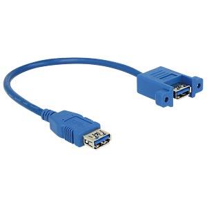 Kabel USB 3.0 A > USB 3.0 A Einbau 0,25 m DELOCK 85111