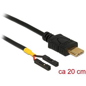 Kabel USB Type-C 2.0 Stecker > 2x Pfostenbuchse einzeln, 20 cm DELOCK 85395