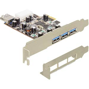 Delock PCI Express card > 3x external -1 x internal USB 3.0 DELOCK 89281