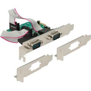 Delock PCIe x1 > Seriell 2x RS-232 High Speed 921K POS 9-bit DELOCK 89641