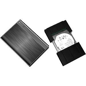 "ext. Gehäuse 6,4cm(2,5"") USB3.0 / Gummilager ICYBOX 20230"