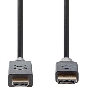 DisplayPort / HDMI-Kabel, DP Stecker > HDMI Stecker 2 m Anthrazi NEDIS CCBP37100AT20