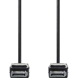 DisplayPort Kabel 1.2, DP Stecker > DP Stecker, 2 m, Schwarz NEDIS CCGB37010BK20