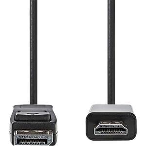 Kabel DisplayPort Stecker > HDMI Stecker, 2 m, Schwarz NEDIS CCGB37100BK20