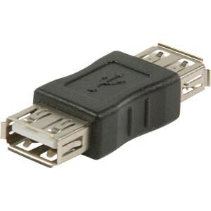 USB 2.0 Adapter, A-Buchse > A-Buchse, Schwarz NEDIS CCGB60900BK