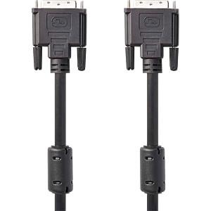DVI-Kabel, DVI-D 24 +1 Stecker > DVI-D 24 +1 Stecker, 10 m NEDIS CCGP32000BK100