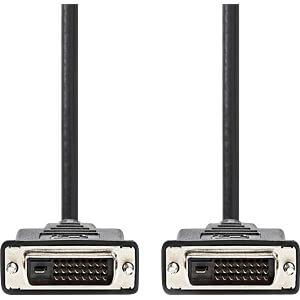 DVI-Kabel, DVI-D 24 +1 Stecker > DVI-D 24 +1 Stecker, 2 m NEDIS CCGP32000BK20