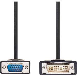 DVI-Kabel, DVI-A 12 + 5 Stecker > VGA-Stecker, 2 m NEDIS CCGP32100BK20