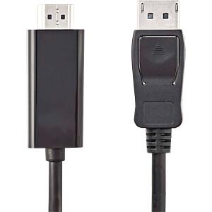 Kabel, DisplayPort-Stecker > HDMI-Stecker, 1 m, Schwarz NEDIS CCGP37100BK10