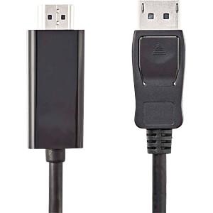 Kabel, DisplayPort-Stecker > HDMI-Stecker, 2 m, Schwarz NEDIS CCGP37100BK20