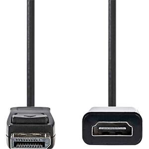 Kabel, DisplayPort-Stecker > HDMI-Buchse, 0,2 m, Schwarz NEDIS CCGP37150BK02