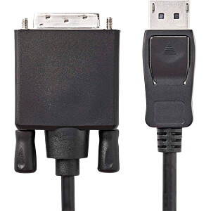 Kabel, DisplayPort-Stecker > DVI-D 24 +1 Stecker, 2 m, Schwarz NEDIS CCGP37200BK20