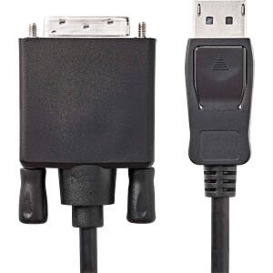 Kabel, DisplayPort-Stecker > DVI-D 24 +1 Stecker, 3 m, Schwarz NEDIS CCGP37200BK30