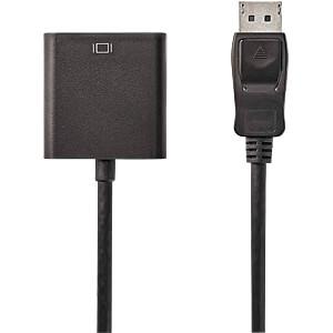 Kabel, DisplayPort-Stecker > DVI-D 24 + 1 Buchse, 0,2 m, Schwarz NEDIS CCGP37250BK02