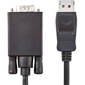 Kabel, DisplayPort-Stecker > VGA-Stecker, 1 m, Schwarz NEDIS CCGP37300BK10