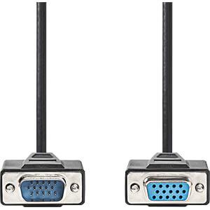 Kabel, VGA-Stecker > VGA-Buchse, 2 m, Schwarz NEDIS CCGP59100BK20