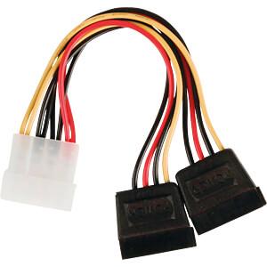 Internes Netzkabel, Molex-Stecker > 2x 15-polige SATA-Buchse, 0, NEDIS CCGP73520VA015