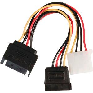 Internes Netzkabel, SATA-Stecker > SATA-Buchse, Molex-Buchse, 0, NEDIS CCGP73555VA015