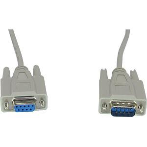 RND 765-00023 - D-Sub Kabel 9 Pin Stecker > Buchse beige/grau 0,5 m