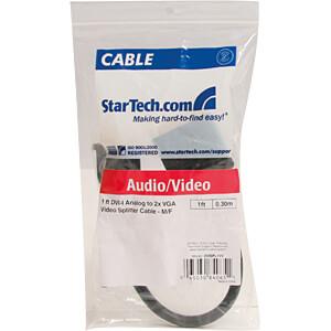 Y-Kabel, Splitter, DVI auf 2x VGA, 30 cm STARTECH.COM DVISPL1VV