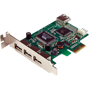 PCIe Karte, 4 Port USB 2.0, Low Profile STARTECH.COM PEXUSB4DP
