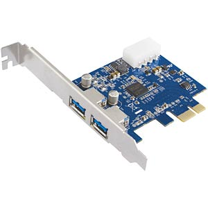 USB controller 3.0, 2-port, PCI-Express interface card FREI
