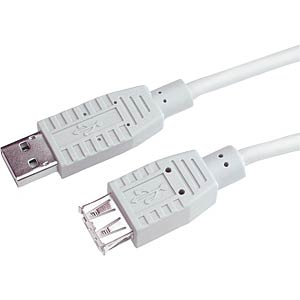 USB2.0 extension, A connector to A socket,1.8 m FREI