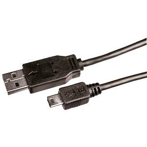 USB-Kabel 2.0,A-Stecker/Mini-B-USB-5P-St>1,5m FREI
