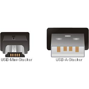 USB-Kabel 2.0,A-Stecker/Mini-B-USB-5P-St>5,0m