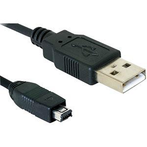 USB 2.0 A-Stecker auf USB-B mini Hirose, 1,5m DELOCK 82208