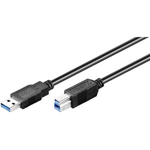 USB3 Kabel,SUPER-SPEED, A-St>B-St 0,50m,SW FREI