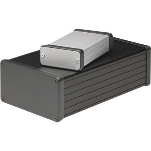 Profilgehäuse, 1455 C, 80 x 54 x 23 mm, schwarz HAMMOND MANUFACTURING 1455C801BK